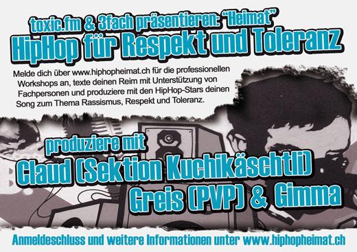 flyer - HipHop für Respekt und Toleranz
